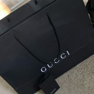 Gucci paper bag and receipt holder